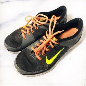 Nike Grey & Orange Running Athletic Shoes Sneakers